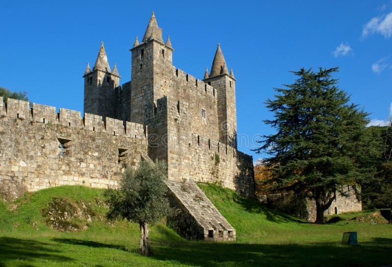 Santa Maria da Feira castle. Portugal royalty free stock photos