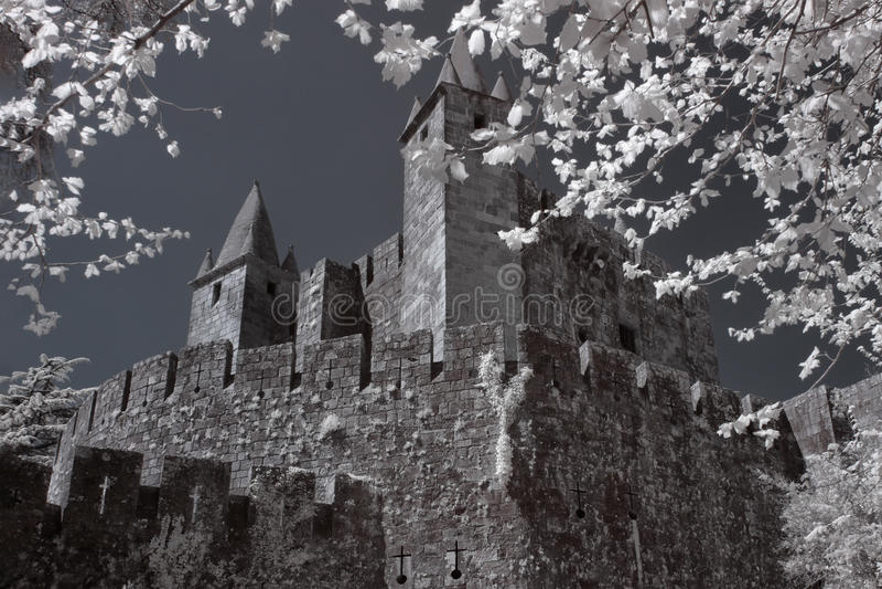 Santa Maria da Feira medieval castle stock photo