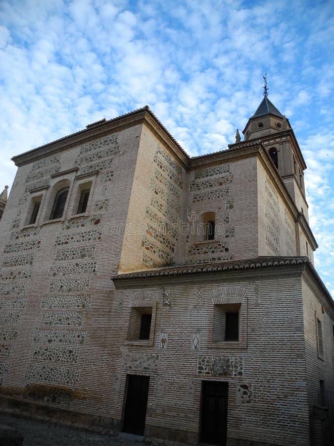 Santa Maria de la Alhambra em Granada, a Andaluzia, Espanha fotografia de stock royalty free