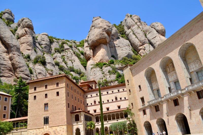Santa Maria de Montserrat Abbey fotos de stock royalty free