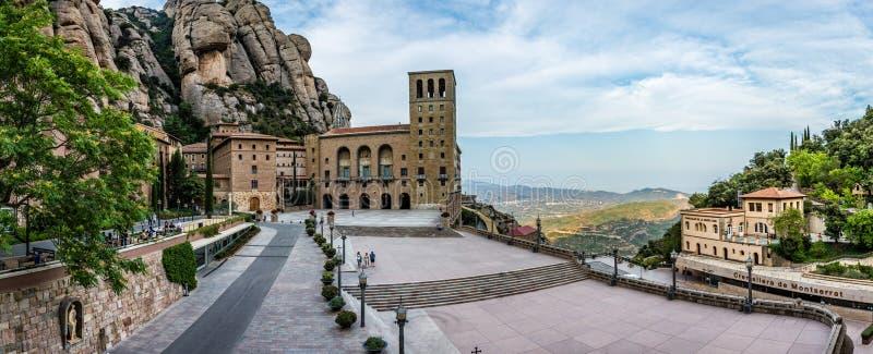 Santa Maria de Montserrat Abbey imagens de stock