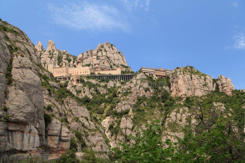 Santa Maria de Montserrat Abbey, Barcellona, Catalogna, Spagna immagini stock libere da diritti