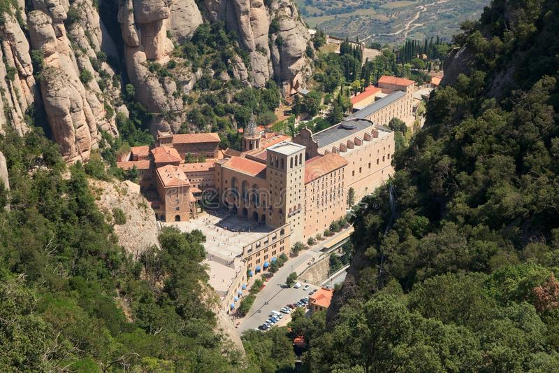 Santa Maria de Montserrat Abbey católica famosa catalu?a espa?a foto de archivo libre de regalías