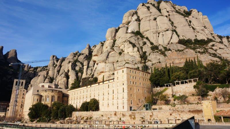 Santa Maria de Montserrat Abbey in Catalonia, Spain royalty free stock image