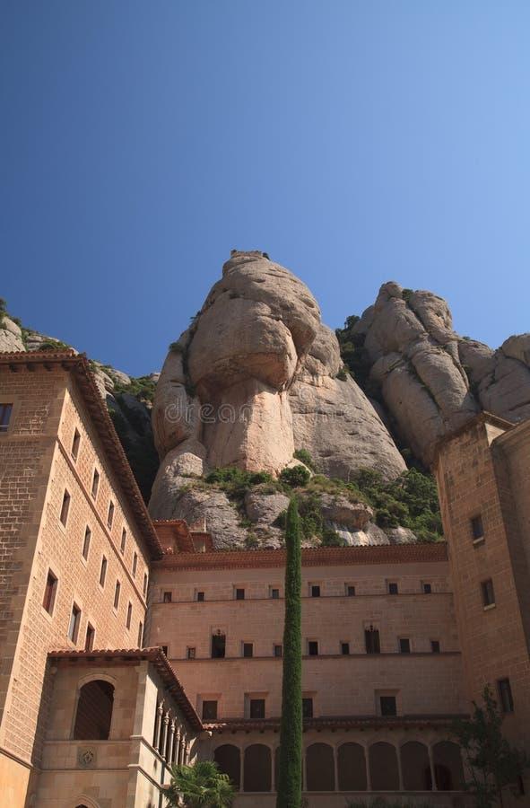 Santa Maria de Montserrat Abbey cattolica famosa catalonia spain fotografie stock libere da diritti