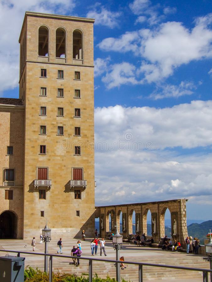 Santa Maria de Montserrat Abbey in Spain royalty free stock photo