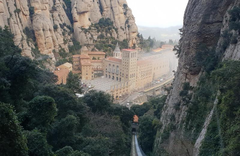 Santa Maria De Montserrat, Catalonia, Spain royalty free stock image