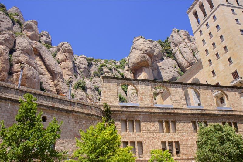 Santa Maria de Montserrat monaster w Catalonia, Hiszpania zdjęcie royalty free