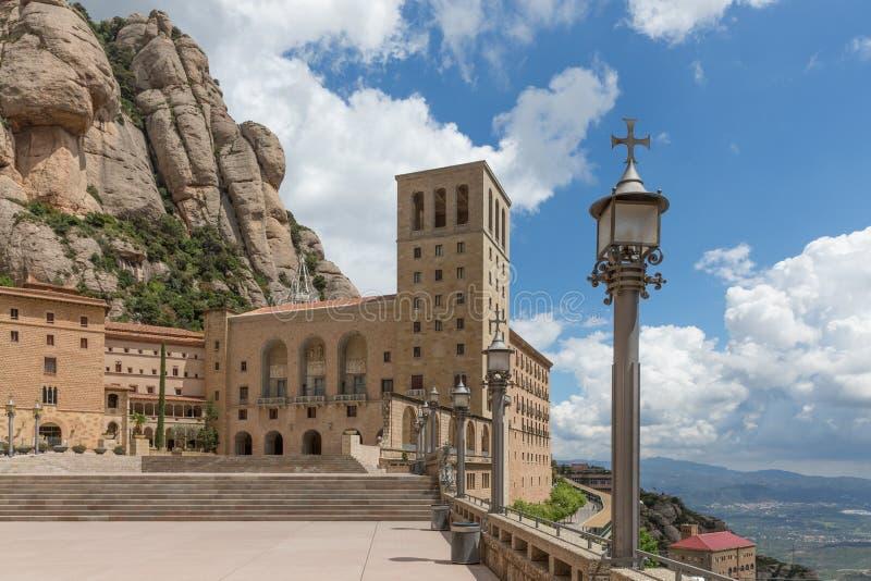 Santa Maria de Montserrat monastery. Catalonia, Spain. stock photo