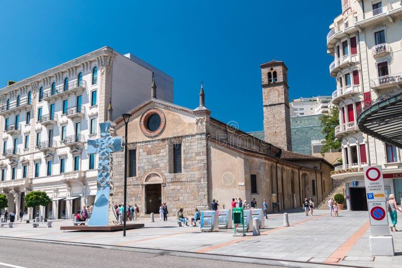 Santa Maria degli Angeli Kirche von St Mary von den Engeln und von den Märtyrern stockbilder