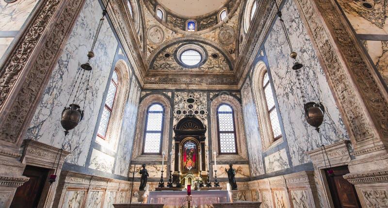 Santa Maria dei miracoli kościół, Wenecja, Italy zdjęcia royalty free