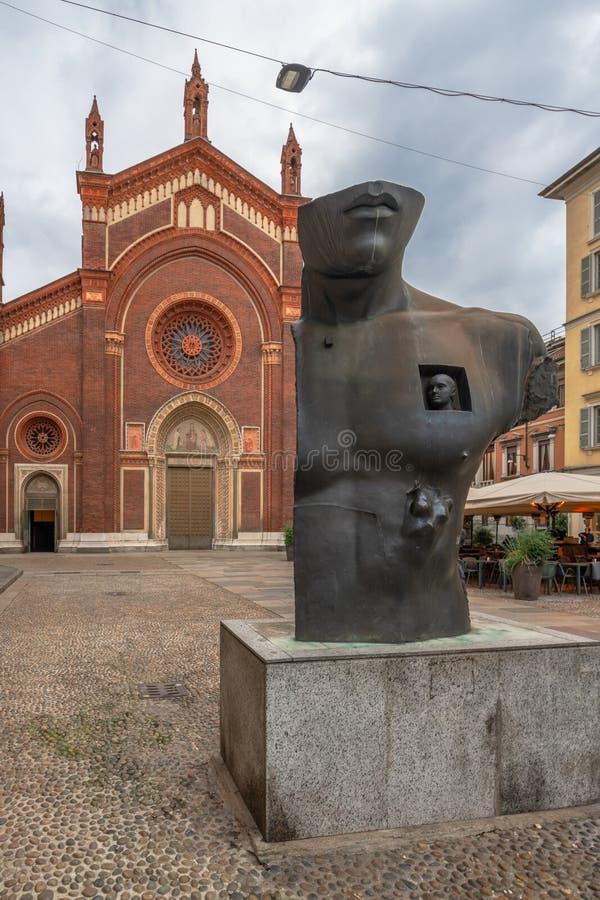 Santa Maria del Carmine en Milán foto de archivo libre de regalías