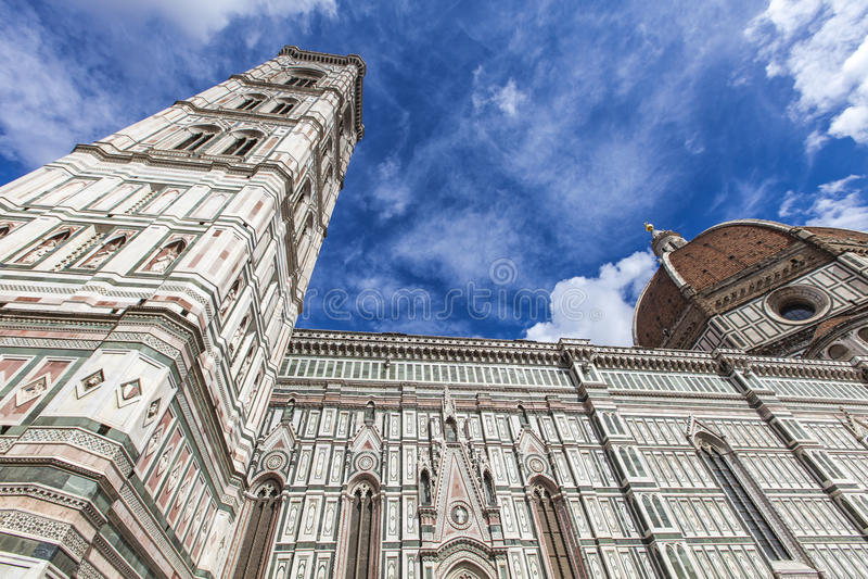 Santa Maria del Fiore catedral in Florence stock afbeeldingen
