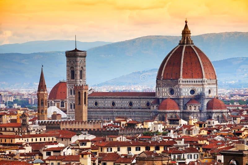 Santa Maria Del Fiore in Florenz, Italien stockbilder