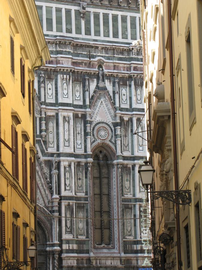 Europe`s fourth largest church,in Florence,Italy,Santa Maria del Fiore. Santa Maria del Fiore is a very large and magnificently decorated church., in Florence stock photo