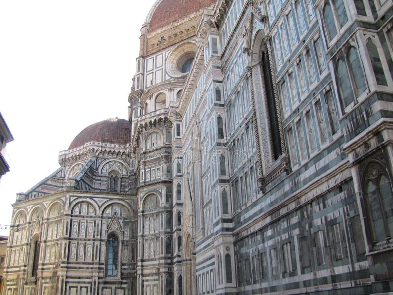 Europe`s fourth largest church,in Florence,Italy,Santa Maria del Fiore. Santa Maria del Fiore is a very large and magnificently decorated church., in Florence royalty free stock image