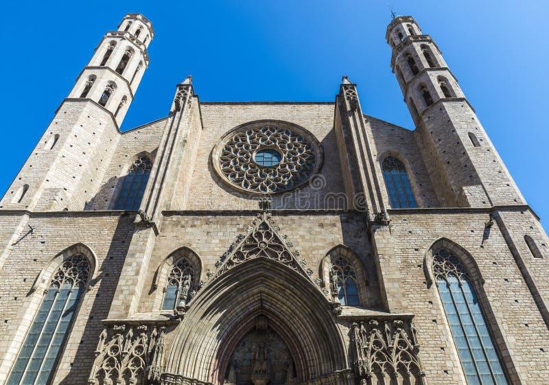 Santa Maria Del Mącący kościół w Barcelona obraz stock
