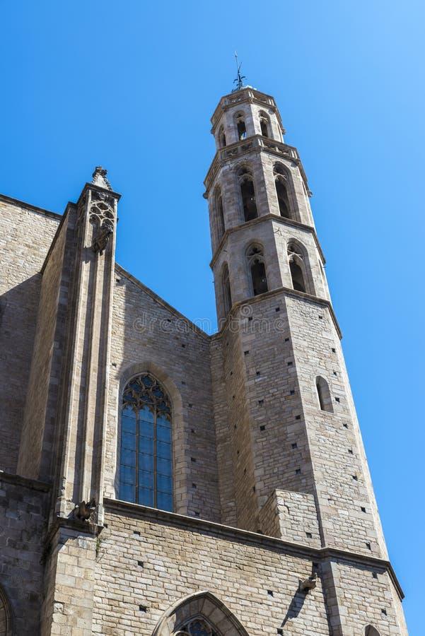 Santa Maria Del Mącący kościół w Barcelona zdjęcia stock