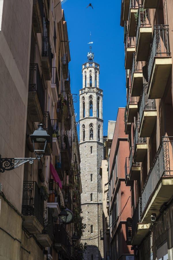 Santa Maria Del Mącący kościół w Barcelona zdjęcie stock