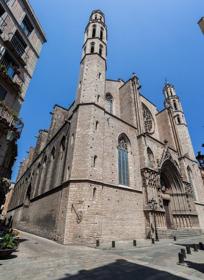 Santa Maria Del Mar Барселона стоковая фотография