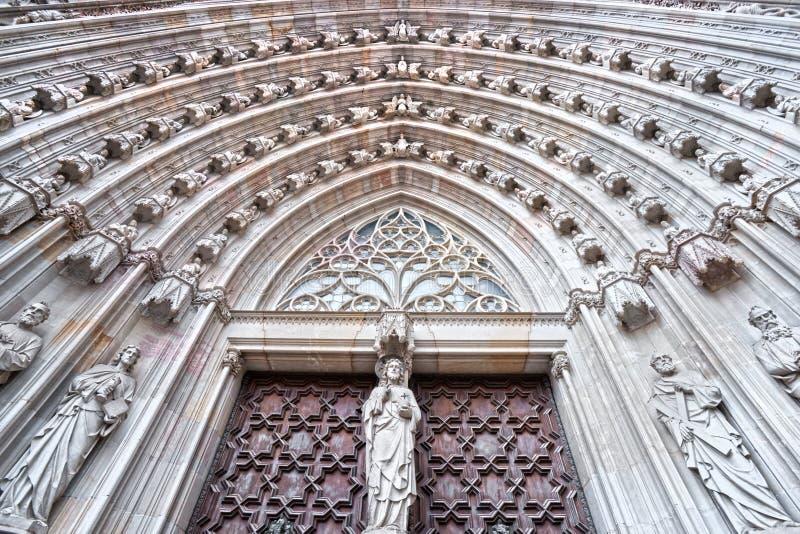 Santa Maria Del Mar, Barcellona. fotografie stock libere da diritti