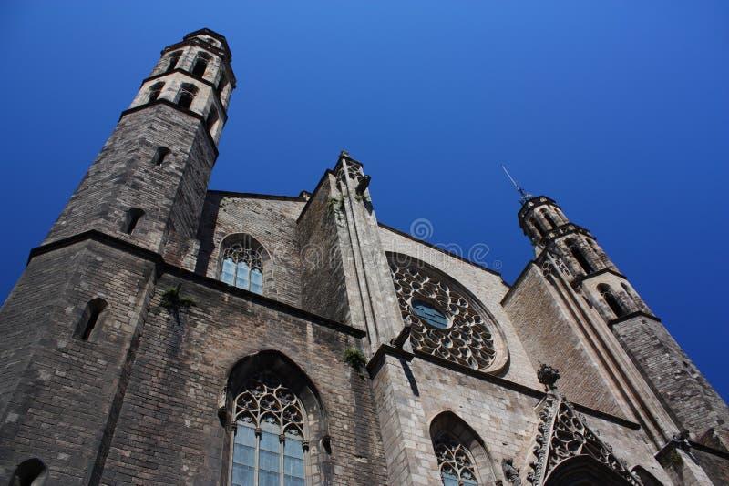 Santa Maria del Mar, Barcelona royalty free stock photography