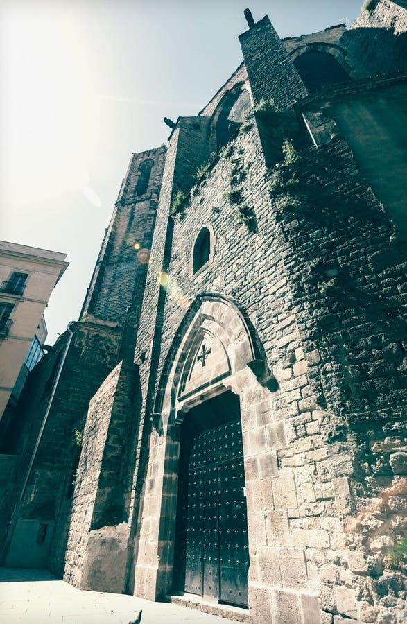 Santa Maria del Pi Barcelona, España imagen de archivo