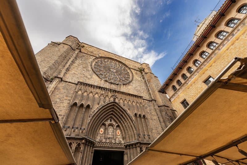 Santa Maria del Pi - chiesa gotica Barcellona Spagna fotografia stock