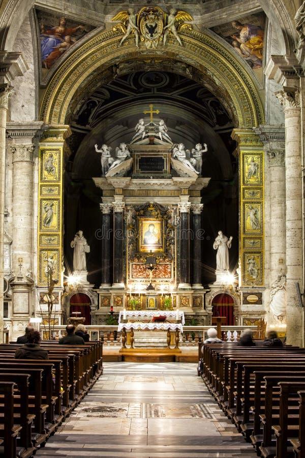 Santa Maria del Popolo Church roma L'Italia fotografia stock