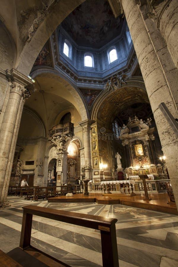 Santa Maria del Popolo Church rome italy arkivfoto