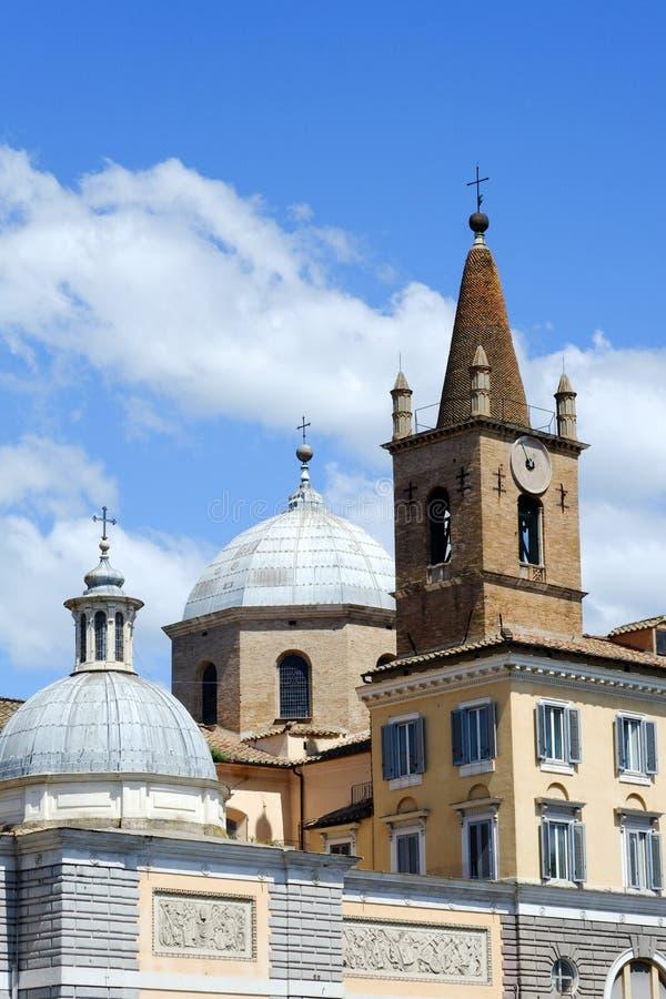 Santa Maria del Popolo i Rome fotografering för bildbyråer