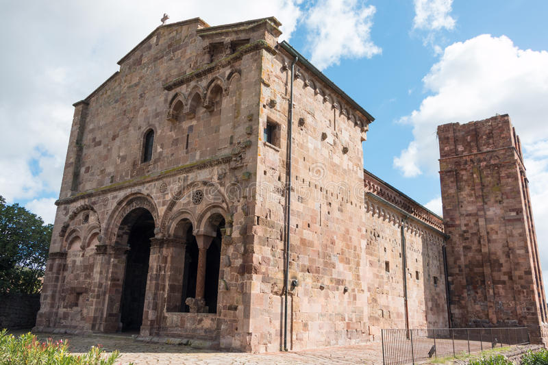 Santa Maria del Regno. Is a Romanesque church in Ardara, province of Sassari, Sardinia, Italy royalty free stock photo
