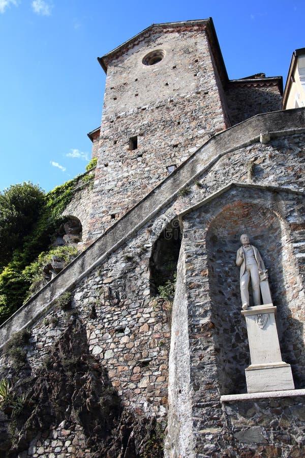 Santa Maria del Sasso au lac Lugano image stock