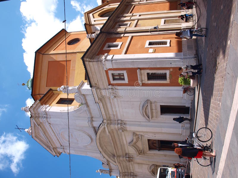 Santa Maria del Suffragio, Ravenna, Italy royalty free stock photography