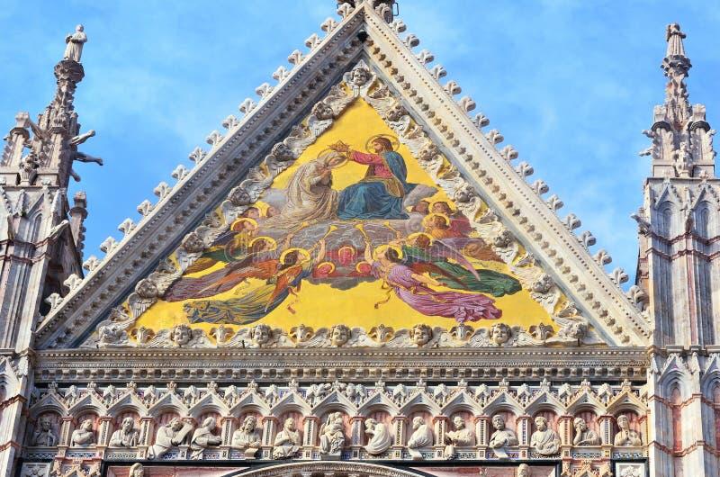 Santa Maria dell' assunta Cathedral. In Siena, Tuscany, Italy stock image