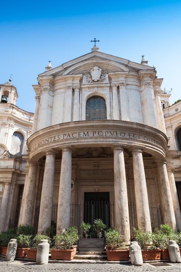 Santa Maria della Pace är en kyrka i Rome fotografering för bildbyråer