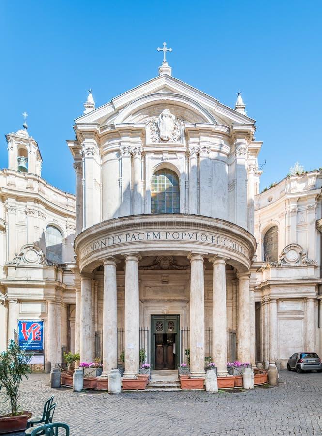 Santa Maria della Pace kyrklig near piazza Navona, Rome för barock fotografering för bildbyråer