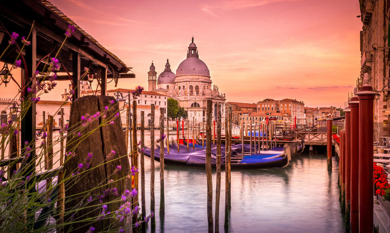 Santa Maria della Salute-kathedraal, Venetië royalty-vrije stock foto's