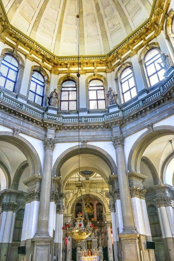 Santa Maria della salutu bazyliki Kościelna kopuła Wenecja Włochy fotografia royalty free
