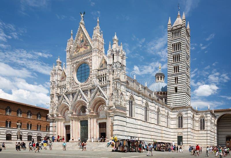 Santa Maria della Scala Cathedral i Siena arkivbild