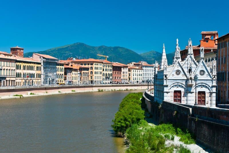 The Santa Maria della Spina, Pisa stock image