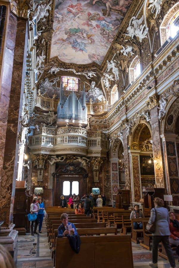 Santa Maria della Vittoria royaltyfria foton