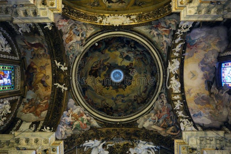 Santa Maria della Vittoria Church i Rome arkivfoton