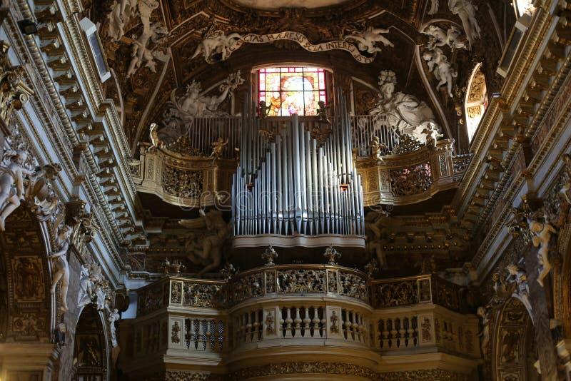 Santa Maria della Vittoria/vår dam av victoryen/är en romare - katolskt titulärt kyrkligt hängivet till den jungfruliga Maryen i  royaltyfri bild