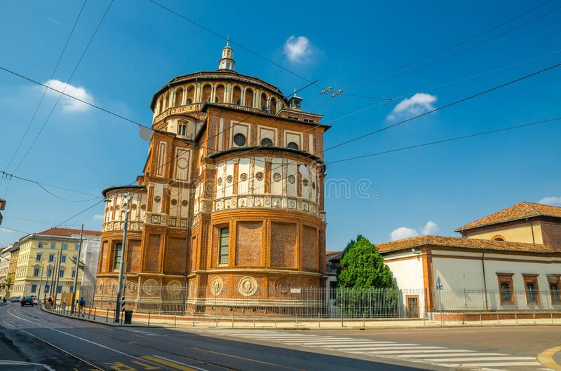 Santa Maria delle Grazie church Last supper fresco, Milan, Italy stock photography