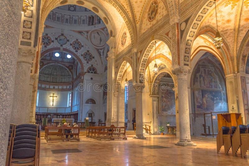 Santa Maria Delle Grazie intern lizenzfreie stockbilder