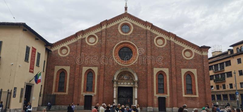 Santa Maria delle Grazie, The Last Supper ,Leonardo da Vinci  Milan Italy stock images