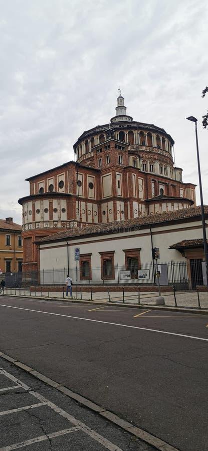 Santa Maria delle Grazie, The Last Supper ,Leonardo da Vinci  Milan Italy royalty free stock images
