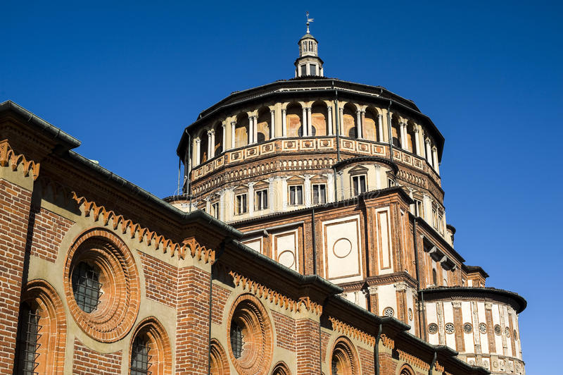 Santa Maria delle Grazie (Milan, Italy) stock photo