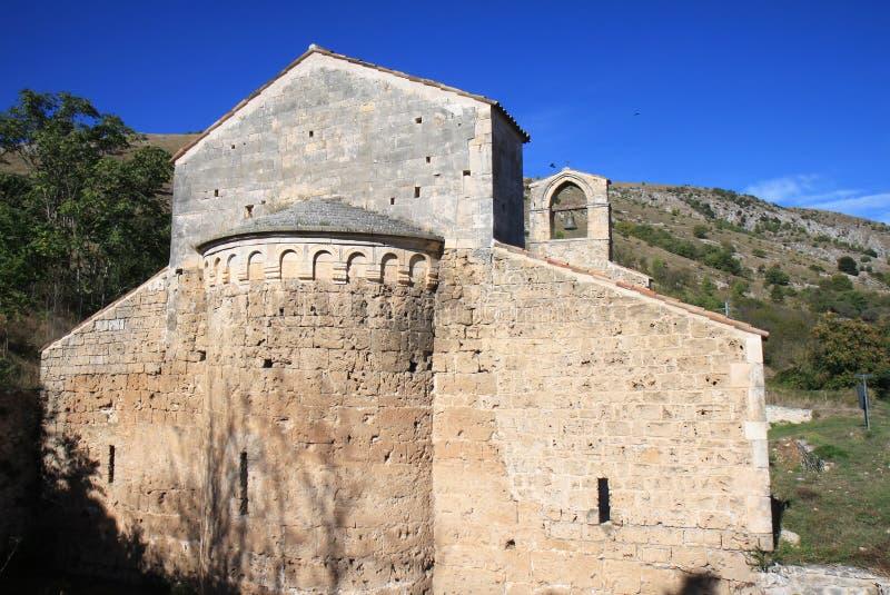 Santa Maria di Cartignano antigua, Central-Italia fotografía de archivo